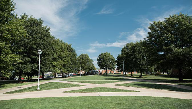 campus mall facing campus center